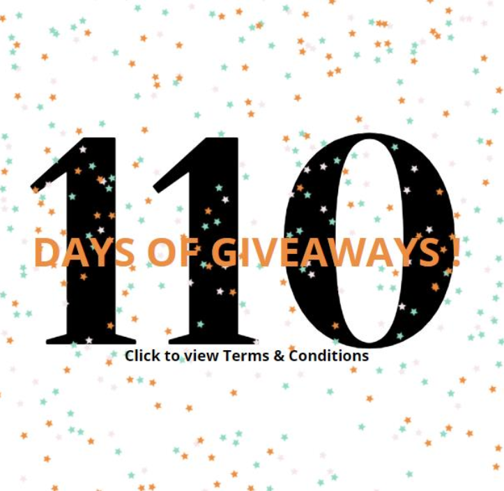 110 Days of Giveaways Terms and Conditions